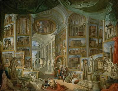Ancient Rome Painting - Ancient Rome by Giovanni Paolo Panini