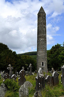 Photograph - Ancient Round Tower At Glendalough by Richard Ortolano