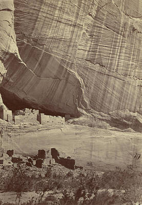 Ancient Ruins In The Cañon De Chelle, New Mexico Print by Litz Collection