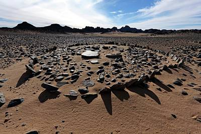 Grave Photograph - Ancient Saharan Burial Ground by Martin Rietze