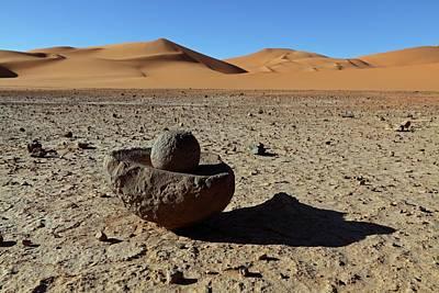 Ancient Saharan Mill Stone Art Print by Martin Rietze