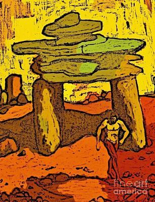 Ancient Sand Painting Art Print
