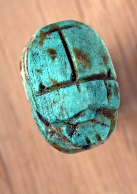 Ancient Jewelry Photograph - Ancient Scarab Amulet by Dirk Wiersma