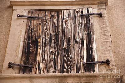 Photograph - Ancient Shuttered Window by Brenda Kean
