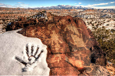 Sw New Mexico Photograph - Ancient Snow Day by Roch Hart