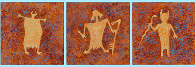 Pictograph Painting - Ancient Spirits by Jerry McElroy