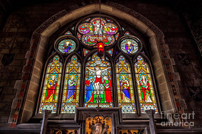 Stained Photograph - Ancient Stained Glass by Adrian Evans