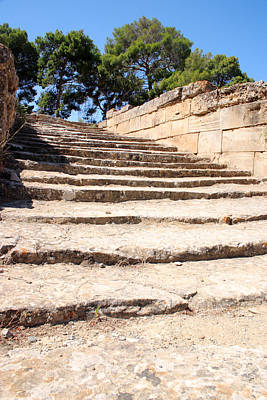 Minoan Photograph - Ancient Steps At Phaistos by Paul Cowan