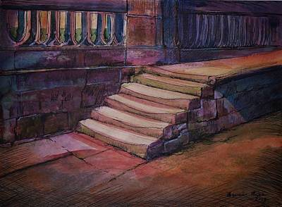 Ancient Steps Art Print by Bruce Repei