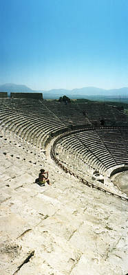 Ancient Civilization Photograph - Ancient Theatre In The Ruins by Panoramic Images