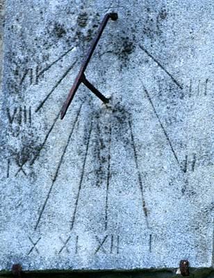 Photograph - Ancient Time Clock by Phoenix De Vries
