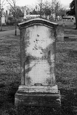 Photograph - Ancient Tombstone by Robert Hebert