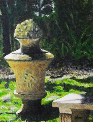 Garden Statuary Painting - Ancient Urn by John Lasco