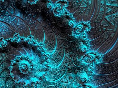 Digital Art - Ancient Verdigris -- Triptych 3 Of 3 by Susan Maxwell Schmidt