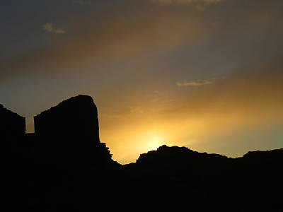 Chaco Culture Nhp Photograph - Ancient Walls Against The Sunset by Feva  Fotos