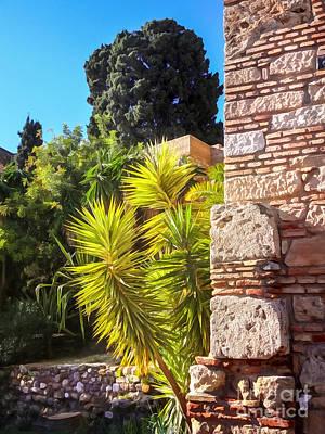 Garden Mixed Media - Ancient Walls by Lutz Baar