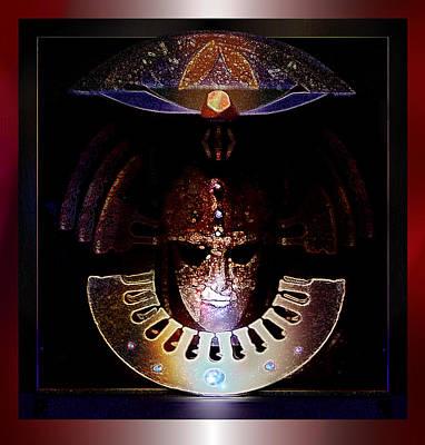 Atlantis Painting - Ancient Warrior Mask by Hartmut Jager