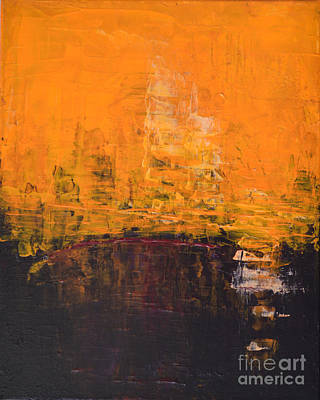 Ancient Wisdom Orange Brown Abstract By Chakramoon Art Print by Belinda Capol