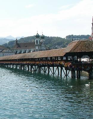 Ancient Wooden Bridge Original by Evgeny Pisarev