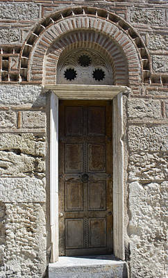 Photograph - Ancient Wooden Door by Radoslav Nedelchev