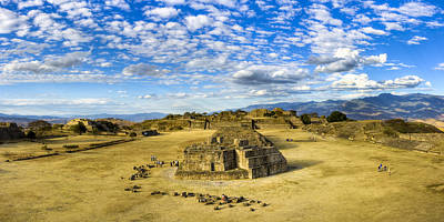 Photograph - Ancient Zapotec Ruins Panorama - Monte Alban by Mark E Tisdale