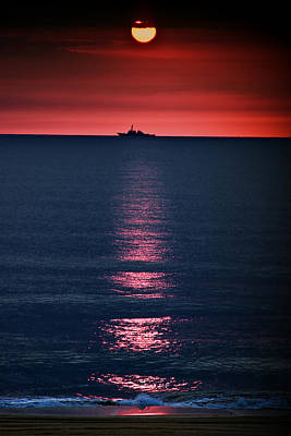 Sunset Sailing Photograph - And All The Ships At Sea by Tom Mc Nemar