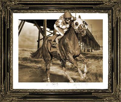 Jockey Digital Art - And Away We Go by Betsy C Knapp