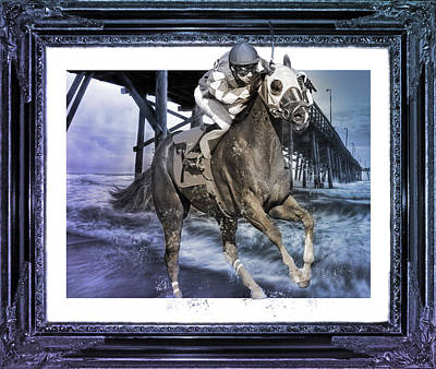 Race Horse Digital Art - And Away We Go II by Betsy Knapp