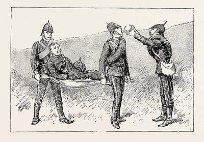 Unable Drawing - And Being Unable To Walk I Was Placed On A Stretcher by English School