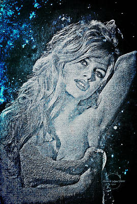 Digital Art - And God Created Woman by Absinthe Art By Michelle LeAnn Scott