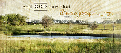 Inspirational Painting - And God Saw That It Was Good by Jennifer Pugh