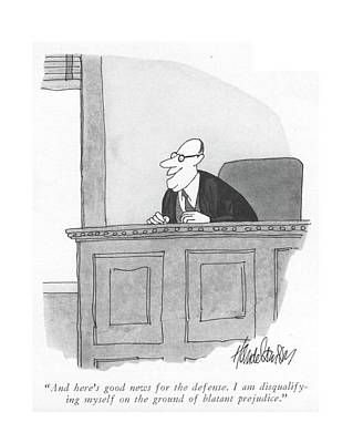 And Here's Good News For The Defense Art Print by J.B. Handelsman