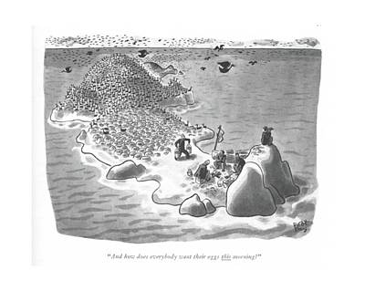 Desert Drawing - And How Does Everybody Want Their Eggs This by Robert J. Day