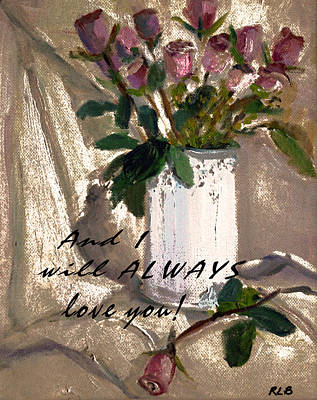 Art Print featuring the painting And I by Rita Brown