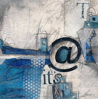 Abstract Collage Mixed Media - And It's Just Winter Drama  by Laura  Lein-Svencner