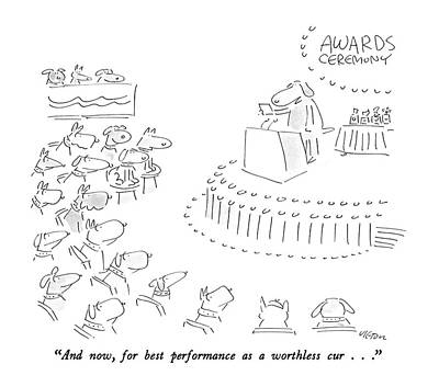 Audience Drawing - And Now, For Best Performance As A Worthless Cur by Dean Vietor