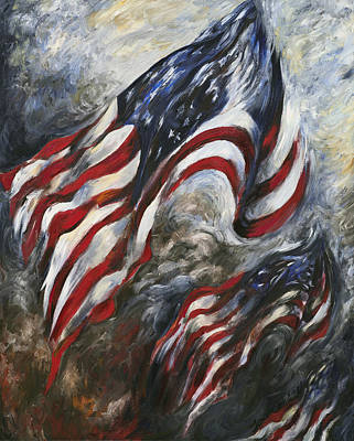 Painting - And Our Flag Was Still There by Francine Stuart