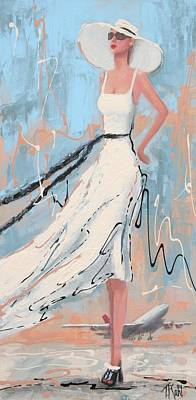 Fashion Painting - And She's Off by Thalia Kahl