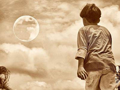 Photograph - And The Kid Found The Moon by Beto Machado