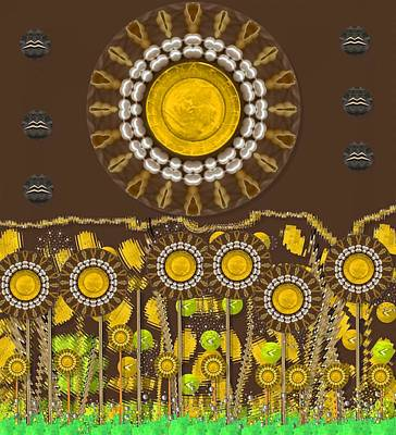 Sunflowers Mixed Media - And the sun started to shine pop art by Pepita Selles