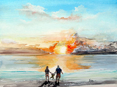 San Clemente Painting - And Then There Were Three... by Rob Beilby