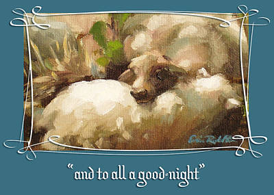 Painting - And To All A Good Night by Erin Rickelton
