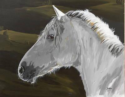 Andalusian Foal Art Print by Janina  Suuronen