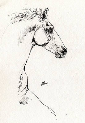 Horses Drawing - Andalusian Horse Sketch 2014 05 29 by Angel  Tarantella