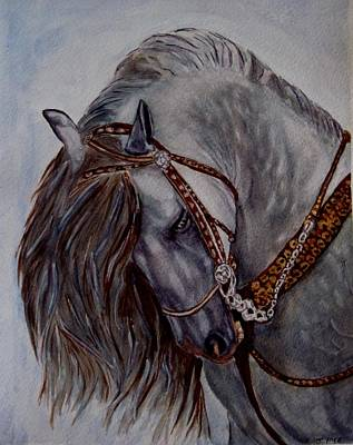Painting - Andalusian by Joan Pye