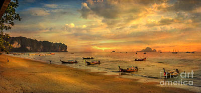 Fishing Boat Photograph - Andaman Sunset by Adrian Evans