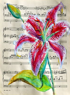 Lilium Painting - Andante Cantabile Romance  Page 64 by Beverley Harper Tinsley