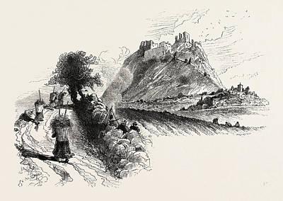 Czech Drawing - Andelska Hora, Engelhaus, Karlsbad, Karlovy Vary by Czech School