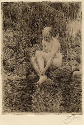 1860 Drawing - Anders Zorn, Dagmar, Swedish, 1860 - 1920 by Quint Lox