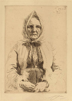 1860 Drawing - Anders Zorn, Mona, Swedish, 1860 - 1920, 1911 by Quint Lox